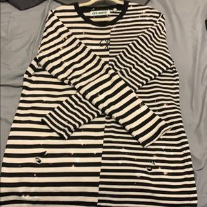 Off-White Distressed Long sleeve Long Tee